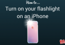 How do I find the flashlight on my iphone?